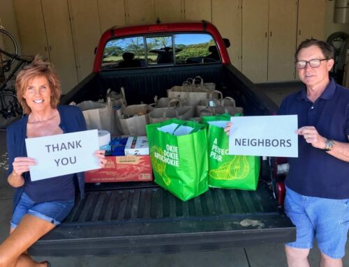 Donating Food & Meeting Neighbors during Covid